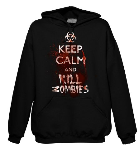 Fantasy Keep Calm and Kill Zombies 700889 Herren Hood 001 2XL