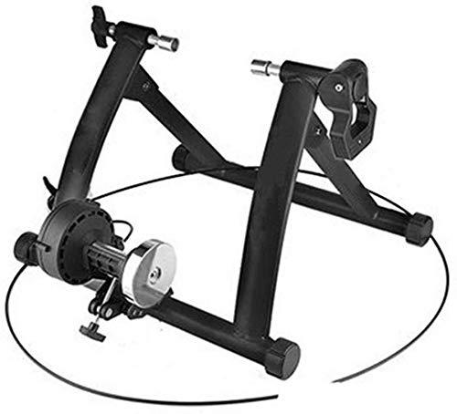 L&WB Plataforma De Formación De Bicicletas, Descontento Controlado con Alambre Plataforma Montar Tubo Principal De Ejercicios Cerrados Bicicleta Estática Estante,Negro