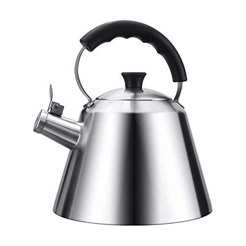 ASDFDG Estufa Top Tetera Tetera de té de silbido de Acero Inoxidable Tetera de Tetera para Estufa Superior Calefacción rápida Cocina de inducción de Estufa de Gas Kettle Universal