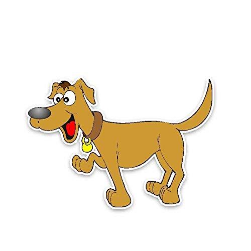 ZQZL Etiqueta engomada del Coche de la decoración del Coche del Animal doméstico del Perrito Que Camina del 14.5 * 10CM