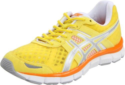 ASICS GEL-Blur33 Zapatillas de correr para mujer, blanco (Sunshine/Lightning/Orange), 43.5 EU
