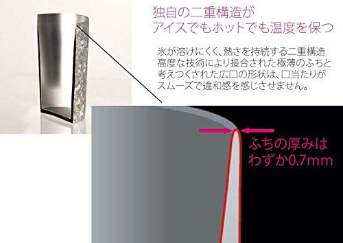 HORIE新潟県燕産チタン2重タンブラー窯創りグラデーションピンク350ccT08KM350GP
