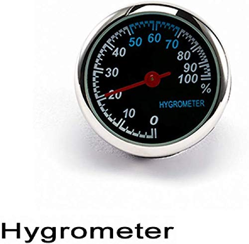 Taschen- und Armbanduhr Auto-Digital-Thermometer/Uhr/Hygrometer Ornament Auto-Uhr-Quarz-Taktgeber-Zeiger-Klimaanlage Outlet Clip (Color : Hygrometer)