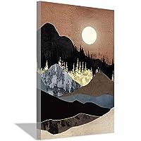 秋の山の夕日の地図現代の家の壁の装飾キャンバスの絵アートHDキャンバスアートワーク