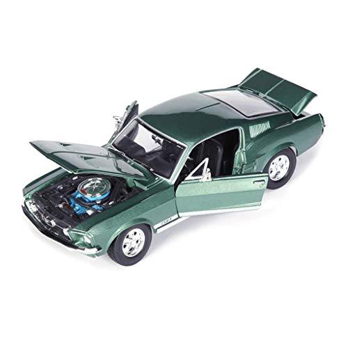 hclshops Coche Modelo de Coche Ford Mustang 01:18 GTA 1967 Simulación de aleación de fundición adorna la colección de Juguetes Coche de Deportes de joyería 26.3x10x7.5CM