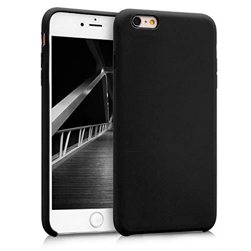 kwmobile Hülle kompatibel mit Apple iPhone 6 Plus / 6S Plus - Handyhülle gummiert - Handy Case in Schwarz matt
