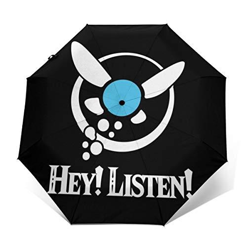 Legend of Zelda Navi Hey Listen Winddicht, kompakt, automatisch, faltbar, Reise-Sonnenschirm