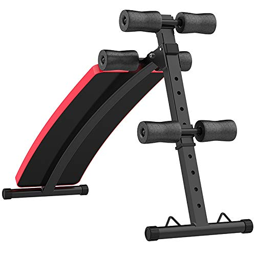 NgMik Banco de Utilidad Banco Sit-Ups Home Supine Bench Abdomen Abdomen Magmbell Fitness Equipment Banco de Mancuernas Ajustable (Color : Black, Size : 125x56x31cm)