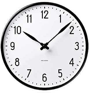 [アルネ・ヤコブセン] Clock 43643(Station 290mm) ホワイト×ブラック FREE