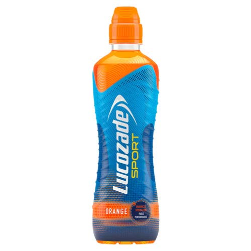 Lucozade Sport Isotonic Drink Orange Flavour with Sugars and Sweetener - 750ml |Pack of 12
