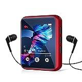 32GB Reproductor MP3 Bluetooth 5.0, HiFi Reproductor de Música con Pantalla Táctil Completa, Line-in Grabación de Voz, Altavoz Interno, Radio FM, E-Book, Soporte hasta 128 GB Tarjeta