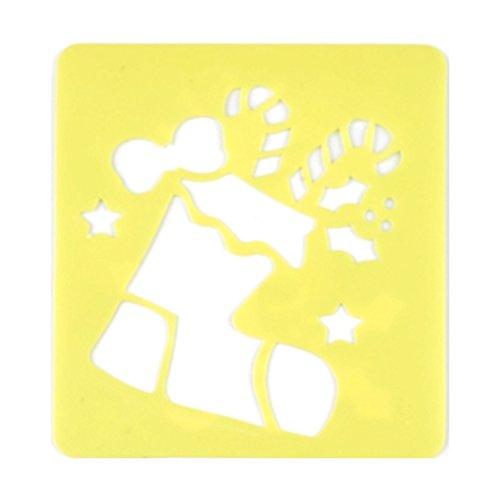 BIG-SAM - Weihnachts Mal- Scrapbooking Schablonen, verschiedene Motive (Stiefel)