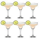 UNISHOP Set 6 Copas de Cocktail de Cristal, Copas para Margarita, 30cl Aptas para Lavavajillas
