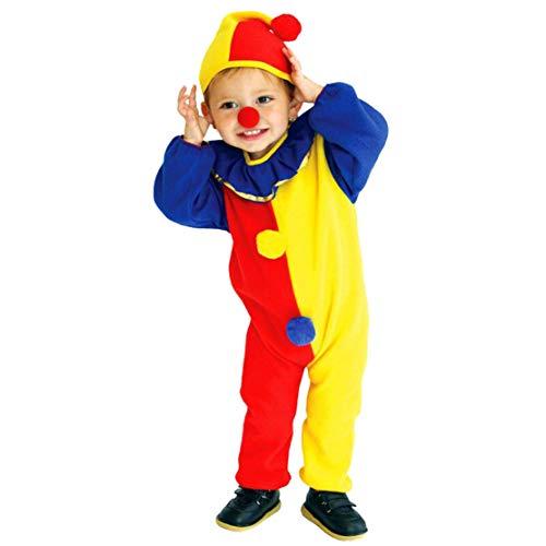 wetry Halloween Clown Kostüm Kind Cosplay Clown Kinder Kleidung Jumpsuit Jungen mit Hut Karneval Kostüm Onesie/M/110-120cm