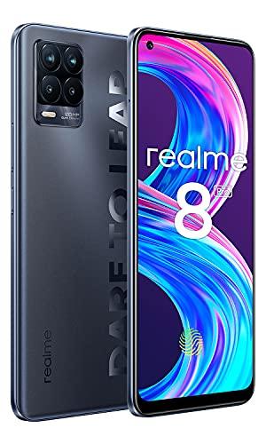 Realme 8 Pro Smartphone 8+128GB,108 MP Quad Fotocamera,180Hz 6.4 Pollici AMOLED Schermo Cellulare,50W Ricarica Rapida 4500mAh Batteria Telefonia Mobile,Dual SIM NFC Telefoni Cellulari NERO