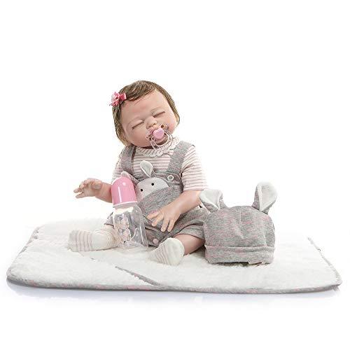 Pinky Reborn Baby Doll 20 Pulgadas Realista de Silicona Suave de Vinilo Bebe Reborn Doll Simulación Silicona Body Doll Niños Juguetes Regalos Boy Girl Twins (Girl)