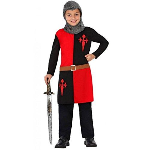 ATOSA disfraz caballero cruzadas niño infantil negro rojo 7 a 9 años