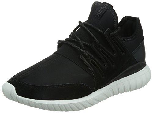adidas Tubular Radial, Scarpe da Ginnastica Alte Unisex – Adulto, Nero (Core Black/Core Black/Crystal White), 45 1/3 EU
