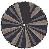 tiopeia 60 Stück Schleifpapier Set, 1500-7000 Körnung, Nass und Trocken, Schleifpapier für Holz, Stein, Lack, Metall, Glas,Metall, 2,28 x 5,55 Zoll