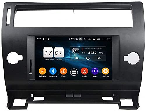 ZHANGYY Navegación GPS Touch Sn 7 Pulgadas Compatible con Citroen C4 C-Quatre C-Triumph 2004-2012 Radio de Coche Android Radio estéreo de Doble ídem