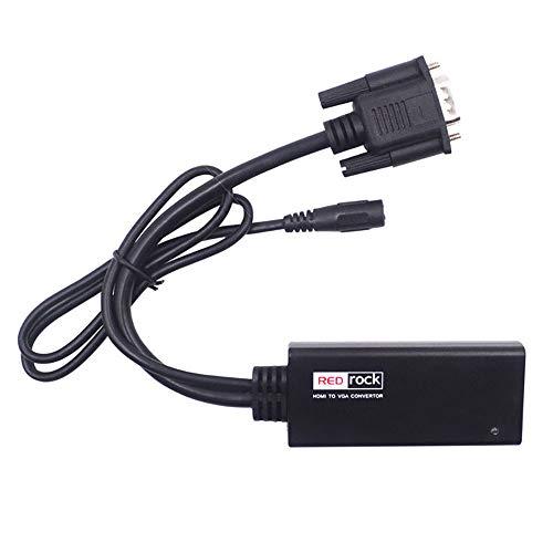 Convertidor HDMI a VGA, HDMI en VGA con cable de audio (macho...