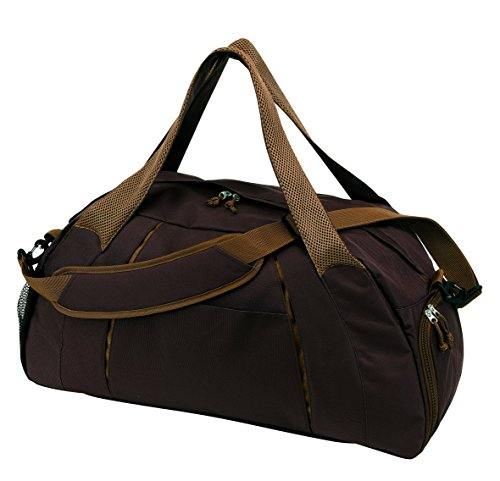 Browni Bolsa de deporte con cremallera, compartimento principal y correas ajustables para el hombro, con compartimento para zapatos