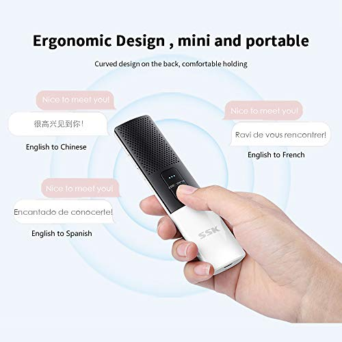 SSK Portable Foreign Language Translators Device with Connecting Smartphone by Bluetooth Support 86 Languages Two-Way Instant Translation Voice Language Translator for Travelling Learning Business Photo #3