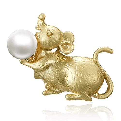 HUANGHUA Maus Tiger Kaninchen Drache Schlange Pferd Schaf AFFE Huhn Hund Schwein Broschen Gold Pins