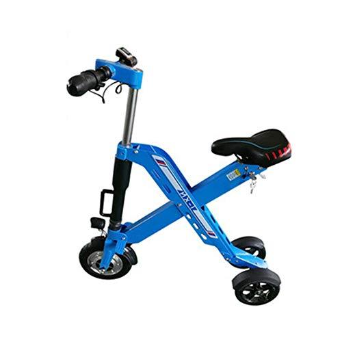 WM Elektrische scooter voor volwassenen, gelijkmatig driewieler, 36 V, lithium batterij, mini-scooter, vouwfiets met zitbereik 40 km