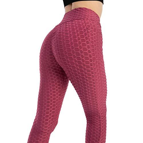 Ardorman Pantalones de Yoga de Cintura Alta para Mujer, Mallas de Entrenamiento a la Cadera con Bolsillos, Mallas de Yoga con Control de Barriga, Mallas Atractivas de Scrunch