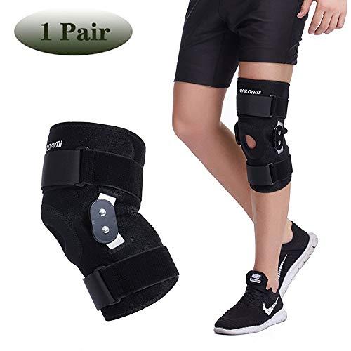 HUWAI-F Kniebandage Knieschoner Verstellbare Knieprotektor, Atmungsaktive Knieschützer, Knieorthese für Meniskus Patella Kreuzbandriss Arthritis Schmerzlinderung