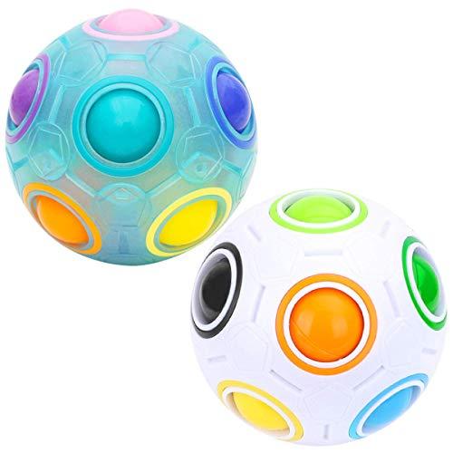 RENFEIYUAN MA Rainbow Ball, 2 Pack Ball Juego Educativo para NIÑOS Y Adultos Rubik Cubo