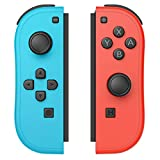 D.Gruoiza Joycon Switch Controllers Have Wake Up Feature, Enhanced Joy-con Remotes Apply to Switch with Wrist Strap (Blue and Red)