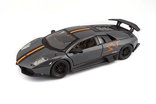 Bburago 22120 - Modelauto 1:24 Lamborghini Murcielago LP670-4 SV Limited Edition, metallic, grijs, voertuigen