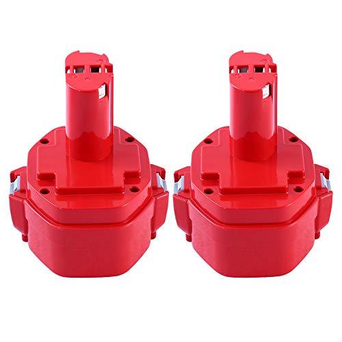 2X PA14 3000mAh Ni-MH de Repuesto para Makita 14.4V Batería 1420 1422 1433 1434 1435 1435F 192600-1 193985-8 Taladro inalámbrico