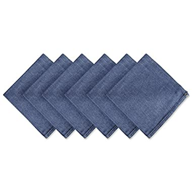 DII 100% Cotton Cloth Napkins, Oversized 20x20 Dinner Napkins, For Basic Everyday Use, Banquets, Weddings, Events, or Family Gatherings - Set of 6, Denim