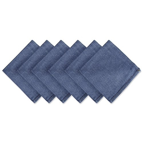DII Solid Napkin Set Collection, 20x20, Denim