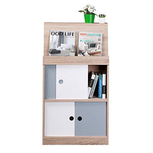 DHTOMC Bookcase shelf White Freestanding Bookcase2 Tier Wooden Bookcase Display Storage Office Home Storage Unit Cabinet (60x25x109cm) Bookshelf Display Xping