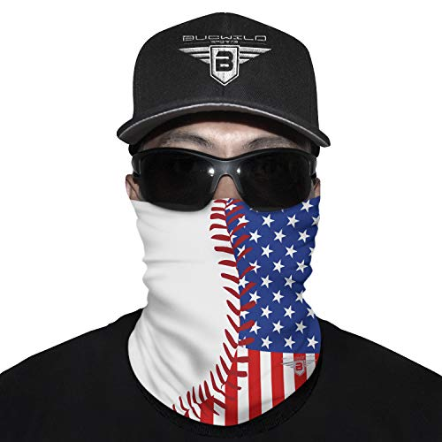 Neck Gaiter Face Mask Baseball USA American Flag Custom Design for Men & Boys