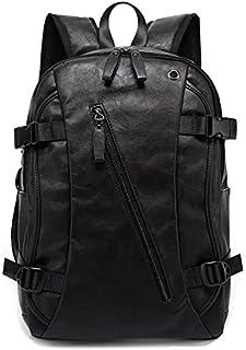 Men Oil Wax Leather Backpack Men's Casual Backpack & Travel Bags Western College Style Man Backpacks Mochila Zip Men Water...