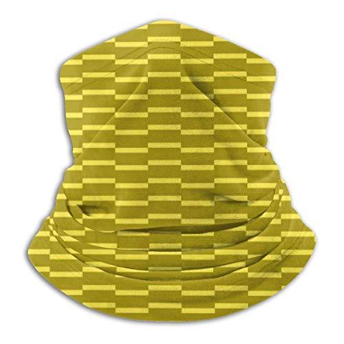 LREFON Pañuelo de Cuello con patrón de ladrillo Dorado, pasamontañas para Hombres, Mujeres, protección contra el Polvo del Viento y el Sol