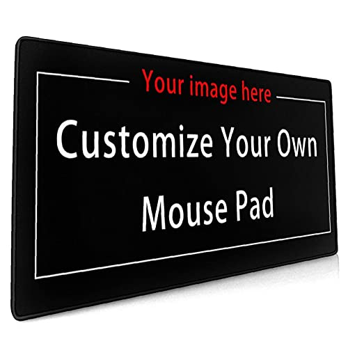 Custom Gaming Mouse Pad,Personalized Mouse Pad with Photo Collages,Custom Large Mouse Pad,XXL Mouse Pad 80x30cm(31.5x11.8in) Smooth Surfaces Water Resistant Mouse Pad Gift for Boy--1 Photo