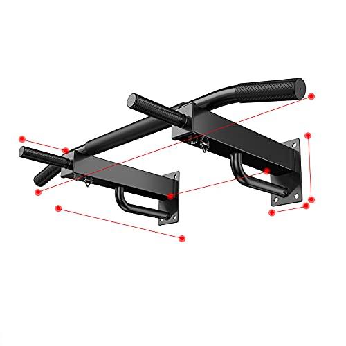 YQ&TL Pull-Ups de Pared Barra Horizontal Aptitud para Adultos Barras Paralelas Simples Entrenamiento Muscular Juvenil con Almohadilla para el Codo B