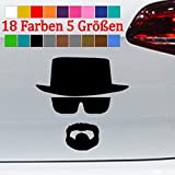 Generic Silhouette Mann mit Hut Tuning Aufkleber Sticker Breaking Bad 18 Farben 5 Größen