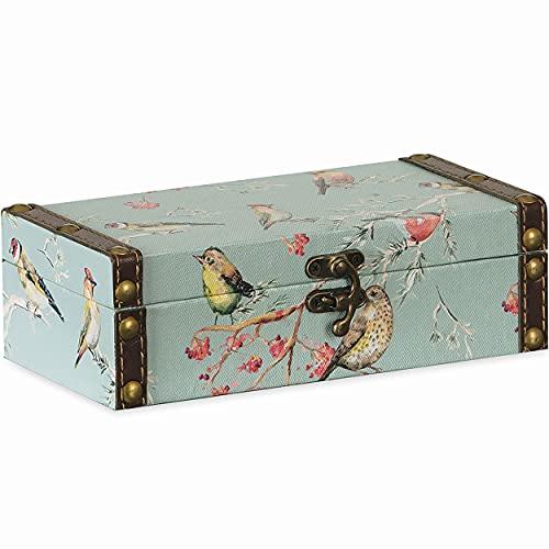 Caixa Decorativa Pássaro Azul 6x20x10cm P
