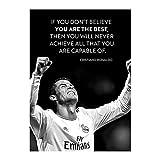 YYAYA.DS Cuadros Decorativos Estrella de fútbol Cristiano Ronaldo Cr7 póster Cuadro de Pared Arte de Pared para la decoración de la habitación de los niños 60x90cm