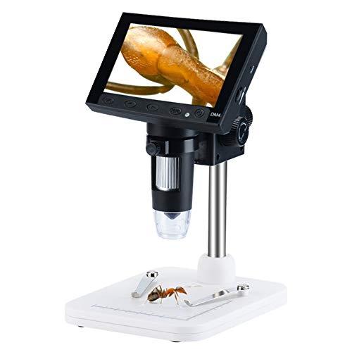 デジタル顕微鏡 4.3インチ液晶 最大1000倍率 HD 360万画素 昇降スタンド式 LED搭載 デジタルマイクロスコー...