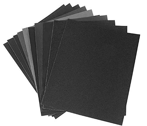 Sandpaper Set 80 100 120 150 220 Grit Sanding Paper Water/Dry Abrasive SandPapers, 10 pcs, 9x11 Inch