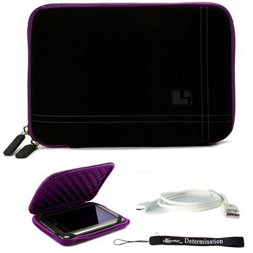 Purple Black Stylish Cover Sleeve Case with Bump Protection for