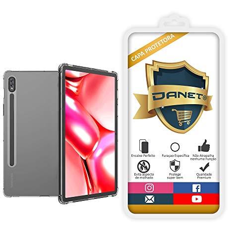 """Capa Protetora Para Samsung Galaxy Tab S7 com Tela de 11"""" Polegadas Capinha Case Transparente Air Anti Impacto Proteção De Silicone Flexível - Danet"""